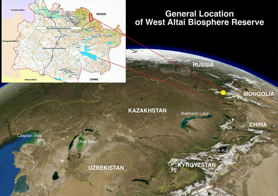 General Location West Altai BR